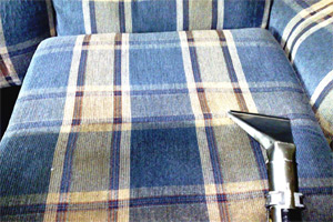Upholstery cleaning performed by Hains Dry Carpet Cleaning