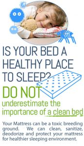 Is you bed a healthy place to sleep? Do not underestimate the importance of a clean bed. Hains Dry Carpet Cleaning offers thorough bed cleaning services.